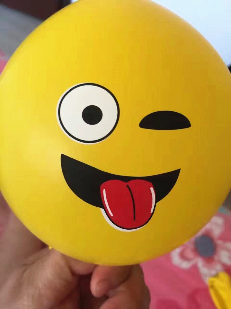 Lovely face expression printed round latex balloons