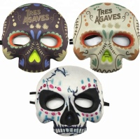 Adult Masquerade Mask Mexican Day Dead scary Half Face Halloween Mask