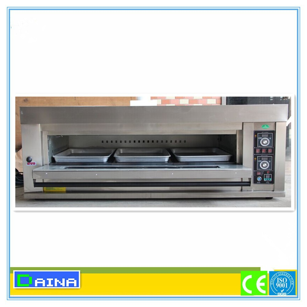 commercial bread baking gas pizza oven industrial electric deck oven with steam - Commercial Pizza Oven