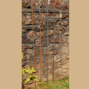 Rusty Flower Yard Stakes Wrought Iron Stakes Iron Plant Stake Metal Garden  Supports   Buy Metal Flowers And Garden Stakes,Decorative Garden ...