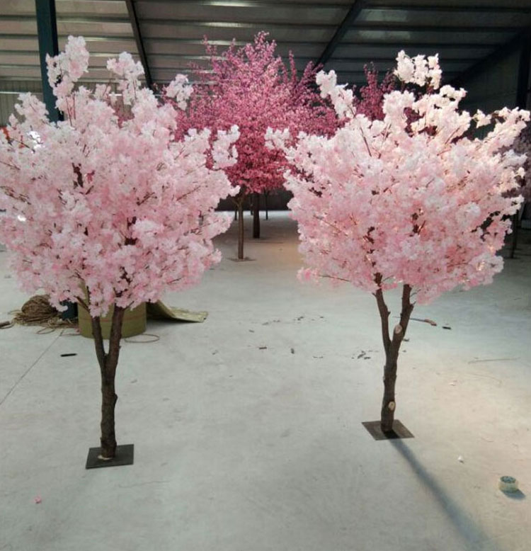 Two forks wedding centerpiece pink cherry blossom tree factory direct price