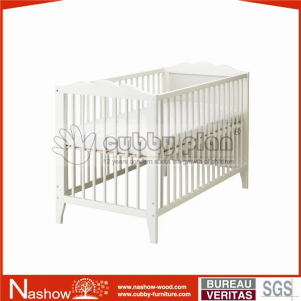 Cubby Plan BC-025 solid wooden baby cots designs baby crib baby furniture