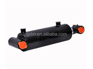 "Double Acting Welded Hydraulic Cylinder 4"" Bore 24"" Stroke Cross Tube End"