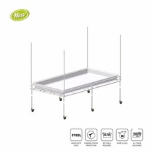 Easy Assembly 4x4ft / 4x8ft Movable Heavy Duty Flood Table Grow Tray Stand