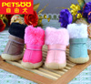 PETSOO 100% Cotton Small Winter Waterproof Dog Boots [PDS-039]