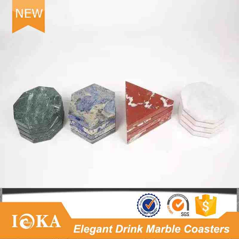 Various Shapes Colors Customized Gift Marble Stone Coaster