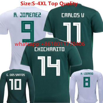 outlet store b4e84 9a24e 2018 New Mexico Soccer Jersey Home 17/18 Green Away White Chicharito  Camisetas De Futbol H.lozano G.dos Santos A.guardado - Buy Cheap Thai  Quality ...