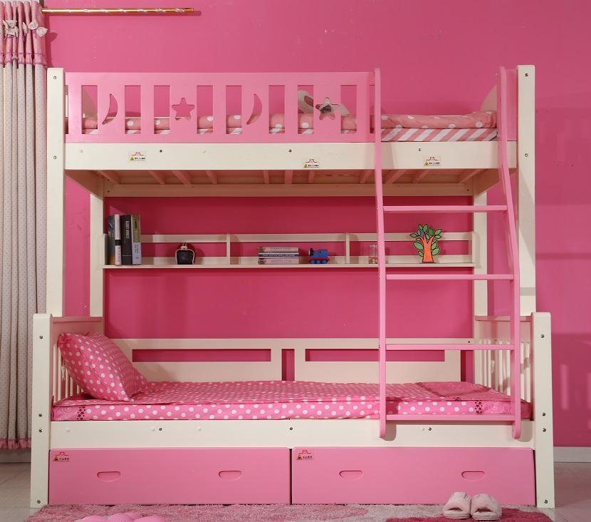 Princesa firls muebles de dormitorio cama litera doble, cajones cama ...