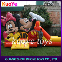 Mickey air bouncer inflatable trampoline, juegos inflables castillos toboganes,play games inflatable slide castle bouncer combo