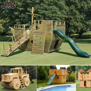 Custom outdoor wooden play ground equipment
