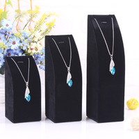 Black Velvet Feeling 1 set order of 3 sizes S M L Necklace display charm jewelry box stand pendant chains holder