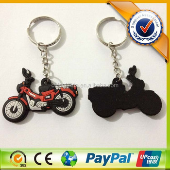 Motorcycle Shaped Custom Your Own Logo 3D Soft PVC Keyring