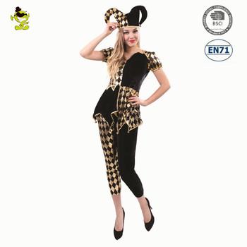 Adultu0027s Harlequin Diamond Jester Clown Costume For Halloween Fancy Dress Costume  sc 1 st  Alibaba & Adultu0027s Harlequin Diamond Jester Clown Costume For Halloween Fancy ...