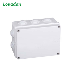 ABS polycarbonate plastic newest electrical enclosure junction box IP67 plastic box with Knock out and Rubber
