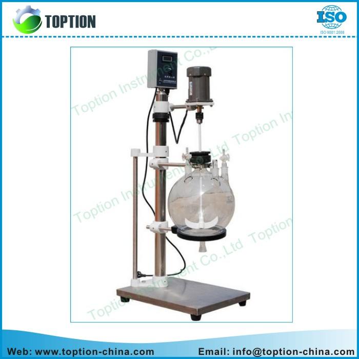 High Borosilicate Glass Liquid Extractor/ Separation Equipment with Agitator biopharmaceutical glass liquid separator