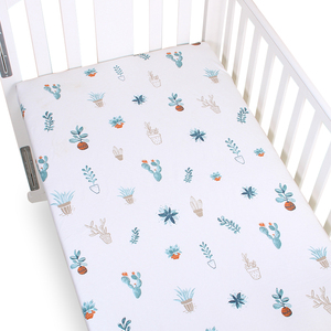 Muslin tree 100% cotton cute baby fitted sheet