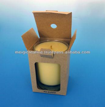 Kraft tuck dans la bo te pour bougie emballage buy - Boite en carton recycle ...