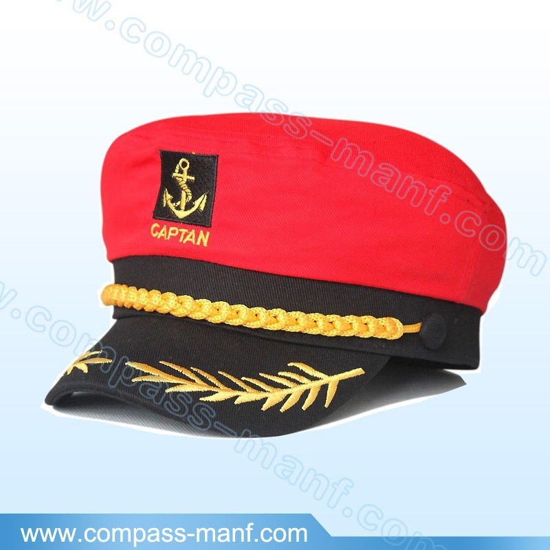 Yacht Captain Skipper Sailor Boat Cap Hat