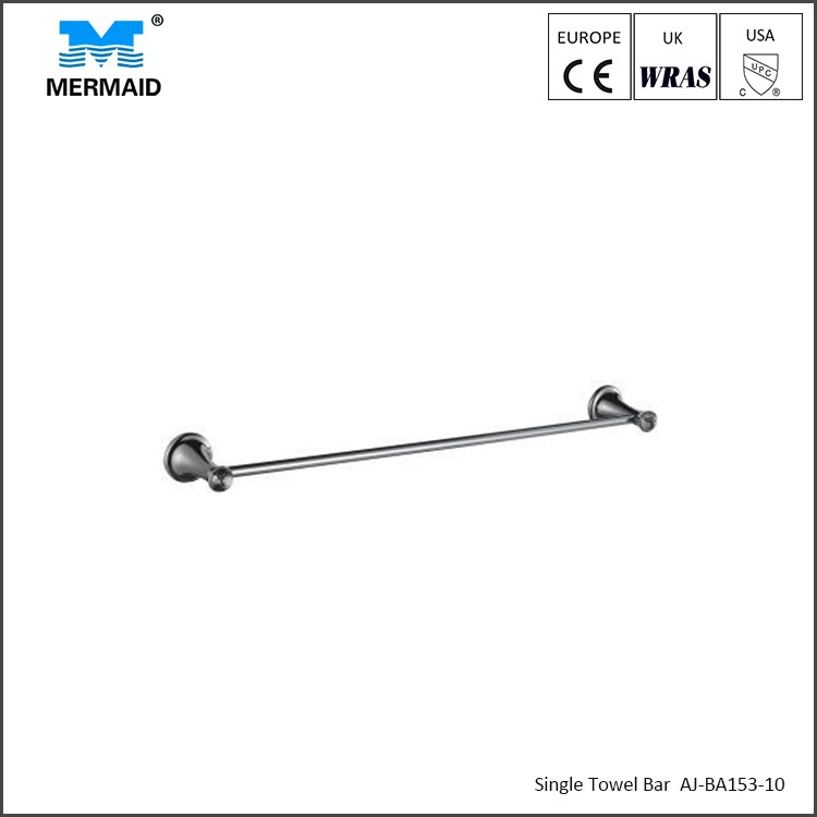 Contemporary style bathroom accessories for single towel bar wall mounted towel rack towel rail