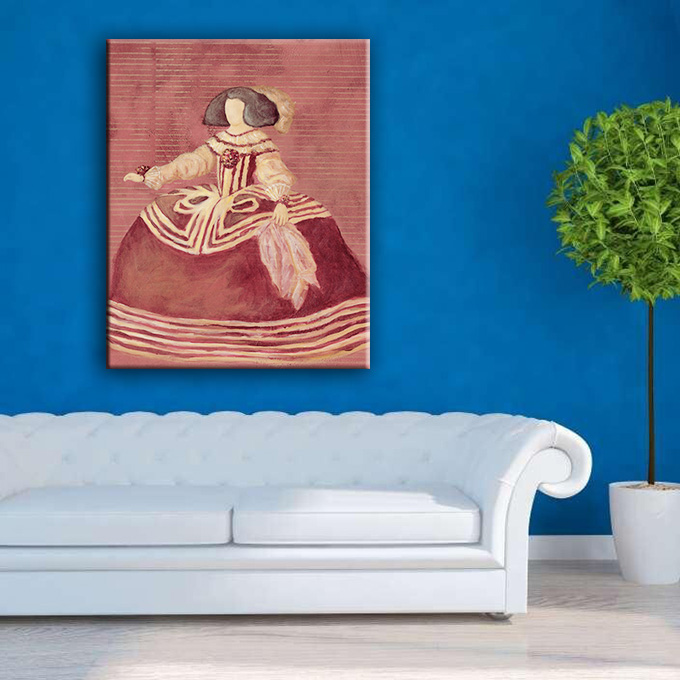 High quality handprint wall figure art painting on canvas