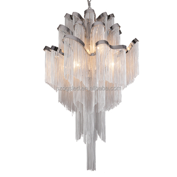 Silver metal chain chandelierdecorative chandelier chains tassel silver metal chain chandelierdecorative chandelier chains tassel chains pendant lights aloadofball Image collections