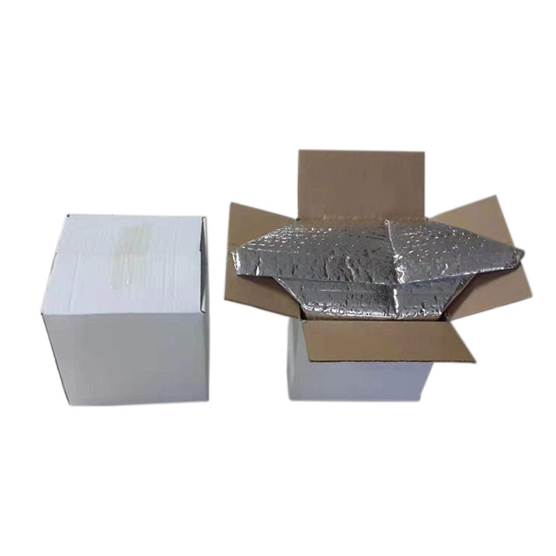 Custom Bubble Thermal Bags Insulated Aluminum Foil Box Liner For Food 48 Hours