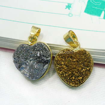 Jf6519 wholesale new style crystal druzy heart pendantquartz jf6519 wholesale new style crystal druzy heart pendantquartz druzy heart bezel setting pendant mozeypictures Gallery