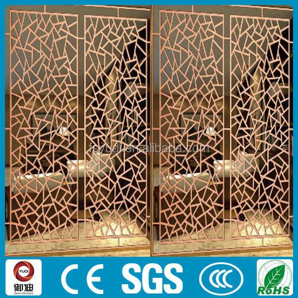 Chine pas cher derni re d coration laser cut forg fer paravent partition par - Paravent fer forge pas cher ...