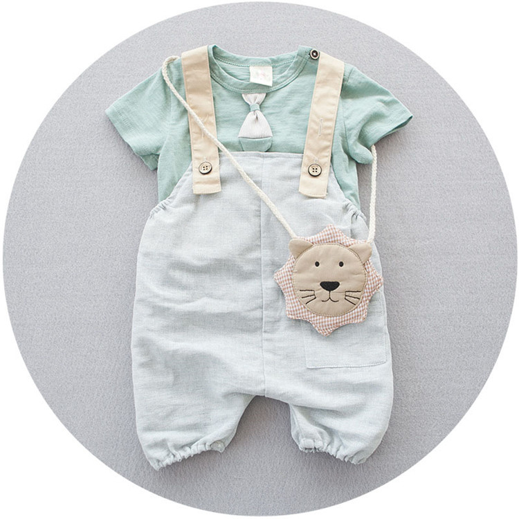 Bestselling New Style Summer Kid Clothing Cheap Baby Overall Clothes Set