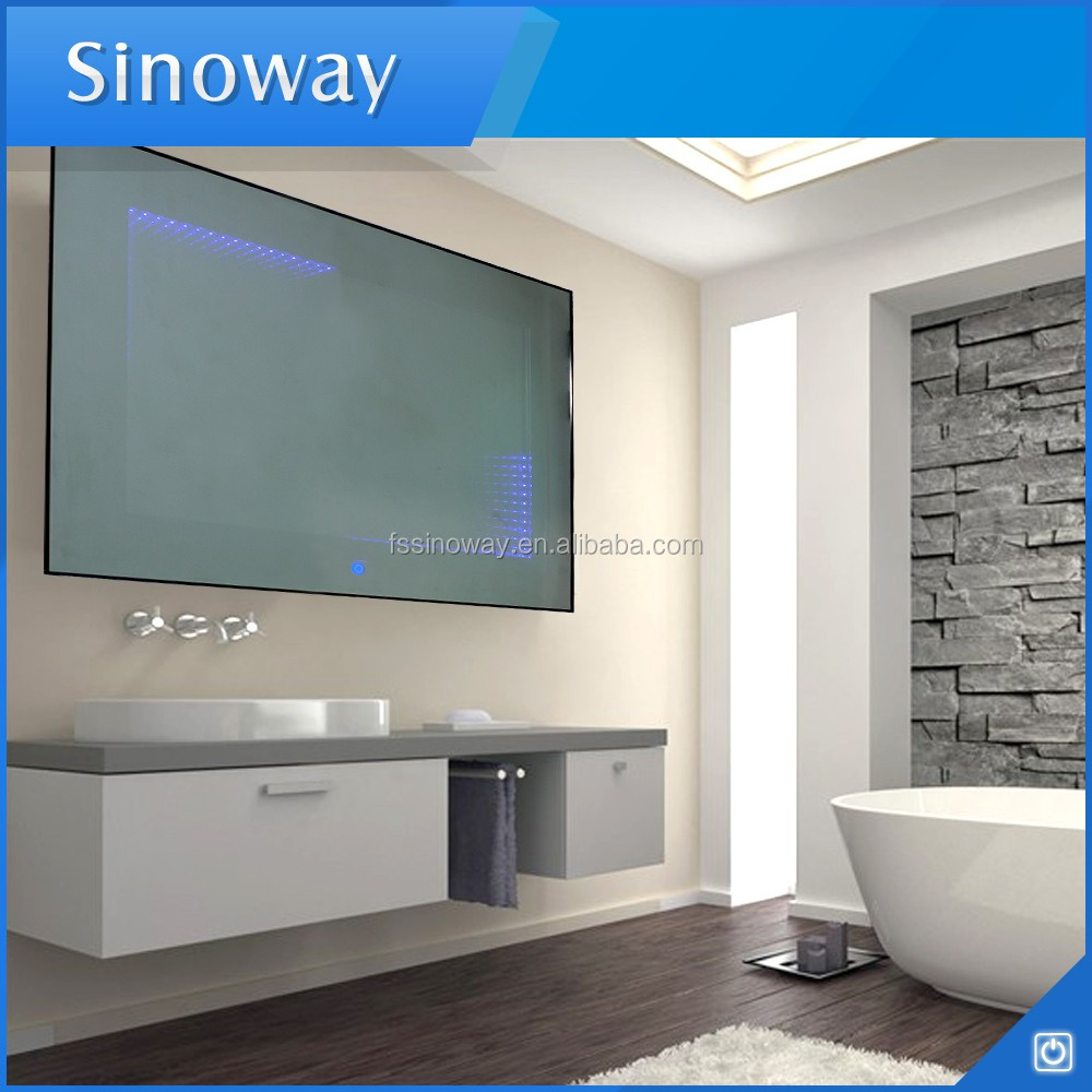 Infinity bathroom mirror - Amazing Aluminum Frame Wall Mounted Led Illuminated 3d Endless Mirror Wall Decorative Infinity Mirror With Touch
