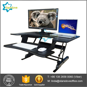 STARSDOVE Office Desk Electric Sit Stand Up Desk with Height Adjustment Function