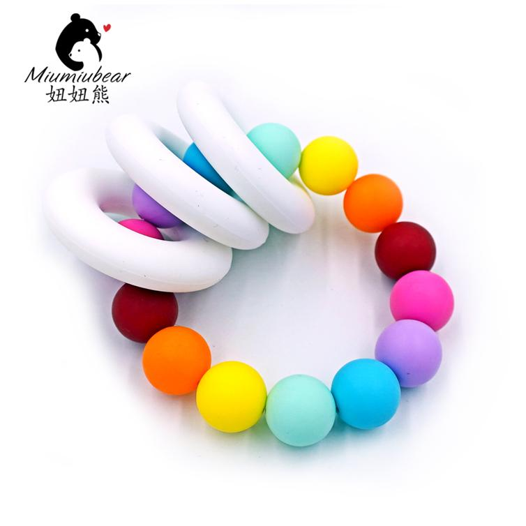 Beads Geometric Stone Beads 10pcs For Baby Toys Beads Bpa Free Good Taste Jewelry & Accessories New Design Of Sets Silicone Flower Rose Beads 4pcs