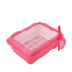 Pet clean products Open-top high sided sift away kitty toilet house cat litter box with scoop