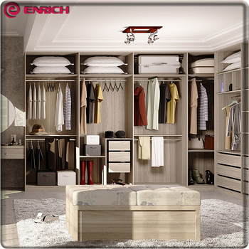 Flat Packing Bedroom Standard Size Aluminum Pole System Walk In Wardrobe  Closet