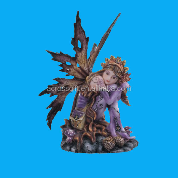 Collectible polyresin fairy decoration