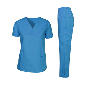 Latest design United sates medical uniforms slim nursing scrubs for wholesale