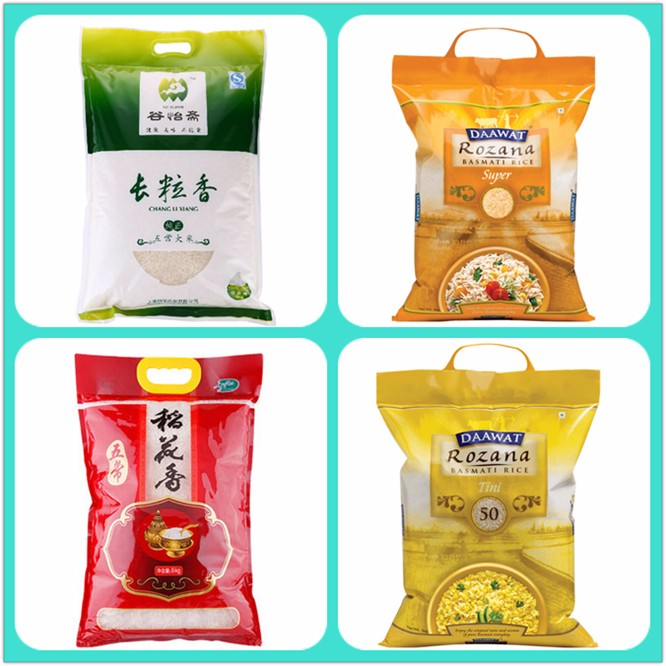 Factory Wholesale Price Custom Size India Basmati Pack Rice In Plastic Bag Of 1Kg 2Kg And 5Kg