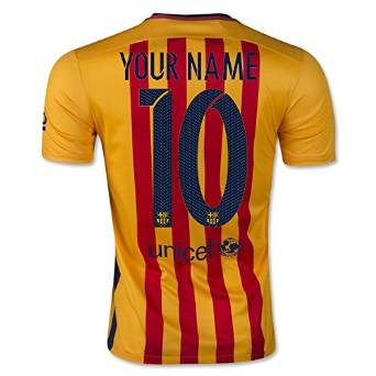 35a52b607f5 Get Quotations · Nike Mens Barcelona Away Stadium Jersey [UNIVERSITY GOLD]