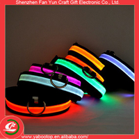 2016 New design wholesale led pet product led dog collar for promotion