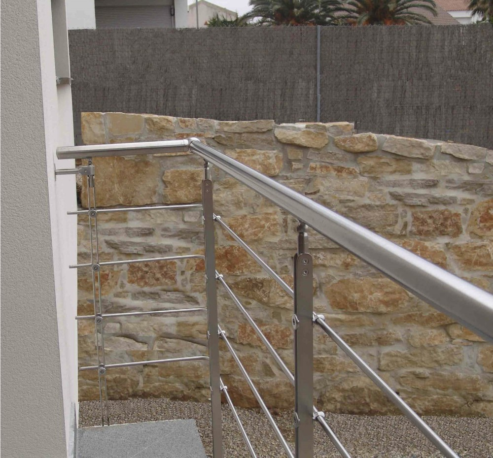 Outdoor iron stair railing - Outdoor Iron Stairs Railing Metal Glass Railing