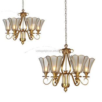 Antique delicate opaque white glass flower chandelier with brass antique delicate opaque white glass flower chandelier with brass metal 6 lights pendant lighting mozeypictures Images