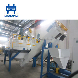 Complete pet bottle recycling line / plastic recycling plant / plastic washing machine