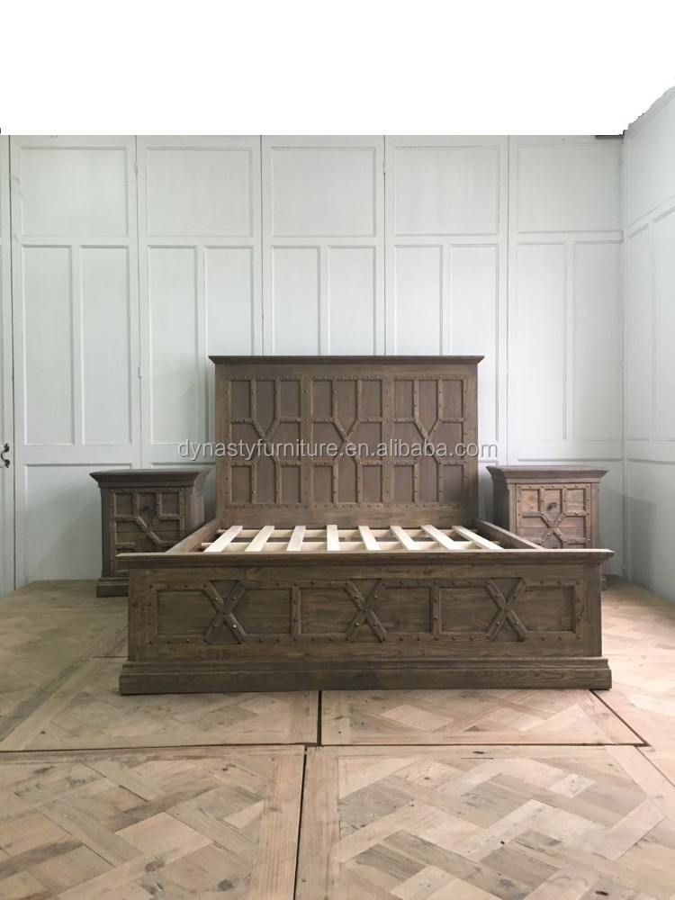 Rustieke stijl houten reproductie meubelen massief houten bed bedden product id 60373318812 - Massief houten platform bed ...