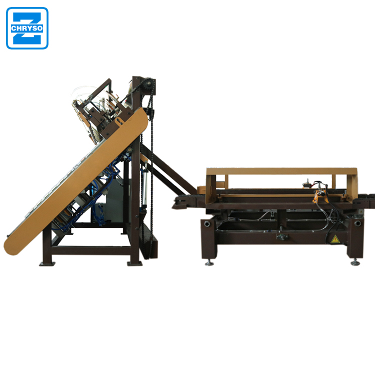 Wood pallet nailing machine wood stringer type making machine