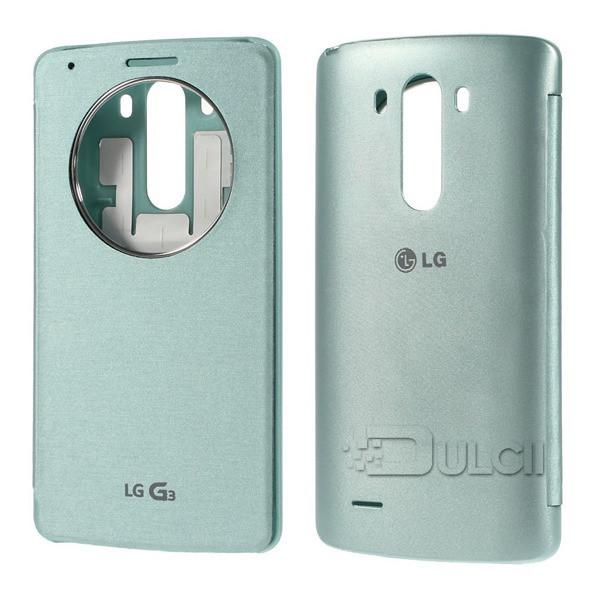 טלפון NFC כיסוי עבור LG G3 במקרה יוקרה מהיר מעגל חלון תצוגה חכם קייס צ ' י טעינה אלחוטית שבב IC גרסה בינלאומית