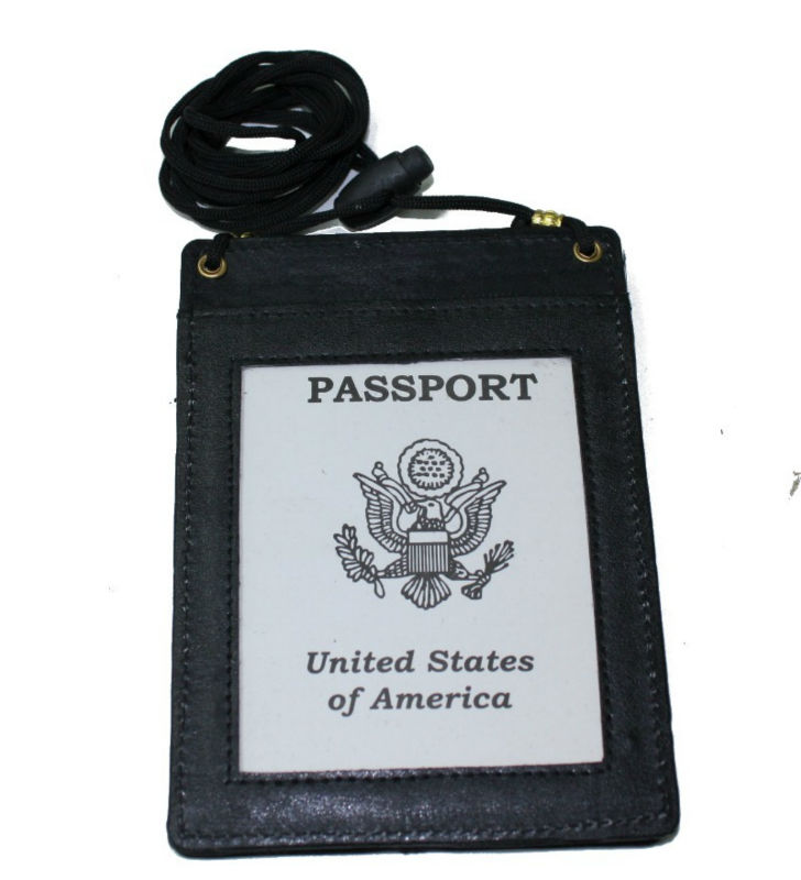 c572a215fc6 Genuine Leather Passport Holder With Neck Strap - Buy Passport ...