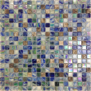 Whole Sale Decorative Mosaic Tiles Glass With Marble Living Rom Wall ...