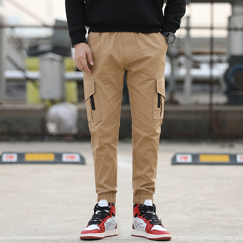 2019 new fashion Multi Pocket zipper camouflage necking leisure sports pants overalls фото