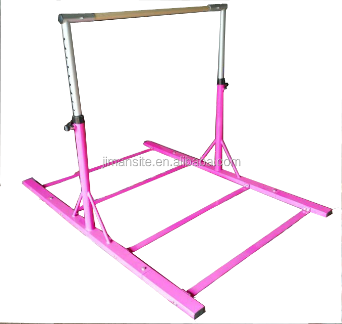 Hot pink kids horizontal top quality bar for gymnastic home training actual manufacturer