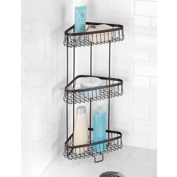 Metal Free Standing Bath And Shower 3-tier Corner Shower Organizer ...
